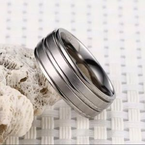 ♥️Men's Silver Stainless Steel Band